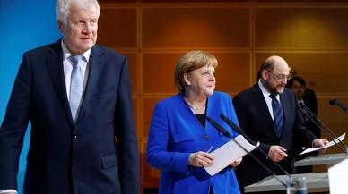 Merkel y Schulz llegan a un principio de acuerdo para reeditar la gran coalición en Alemania