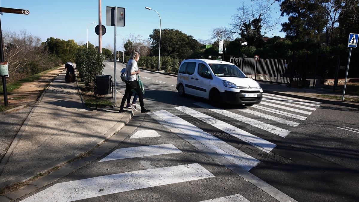La zona de Montjuïc (Barcelona) donde han sido halladas maniatadas las dos chicas.
