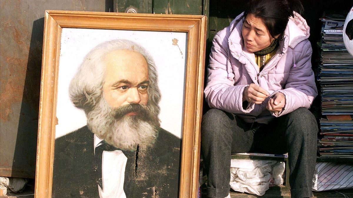 Karl Marx: suvenir o tótem político en China