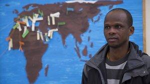 Mamadou es uno del centenar de refugiados que participa en el proyecto Hospitalaris.