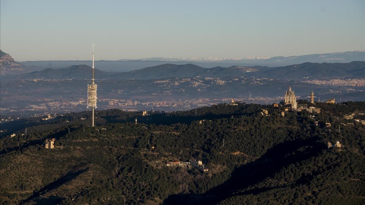 Vista del parque de Collserola.