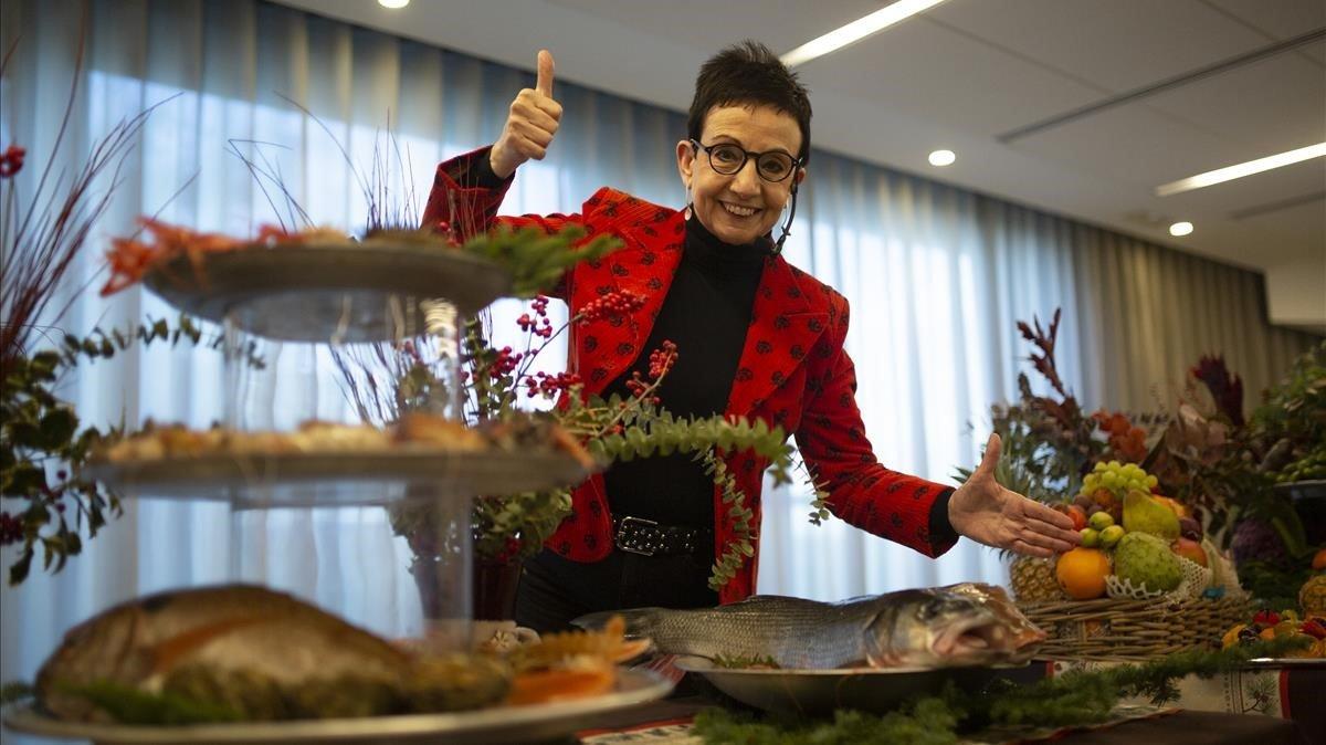 Ruscalleda, durante la presentación de sus recetas navideñas en Mercabarna.