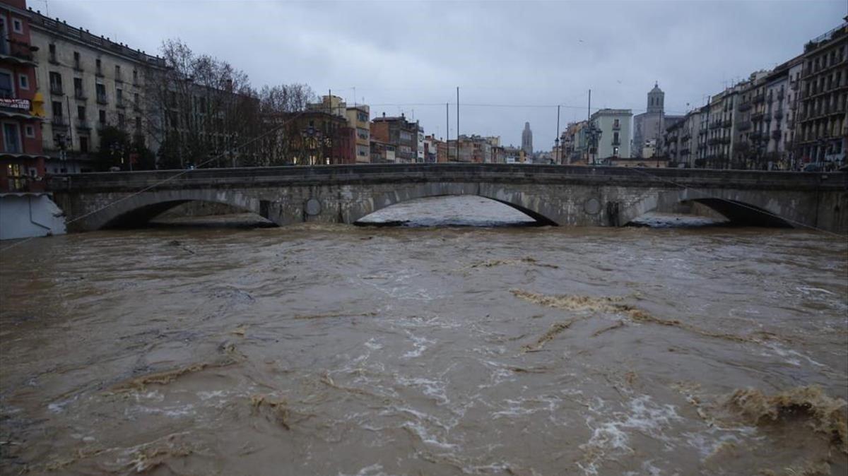 El río Onyar, en Girona.