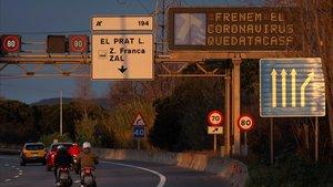El coronavirus redueix un 70% el trànsit a l'àrea de Barcelona