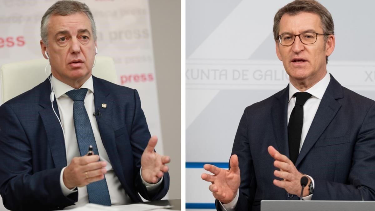 El lendakari, Íñigo Urkullu, y el presidente de la Xunta de Galicia, Alberto Núñez Feijóo.