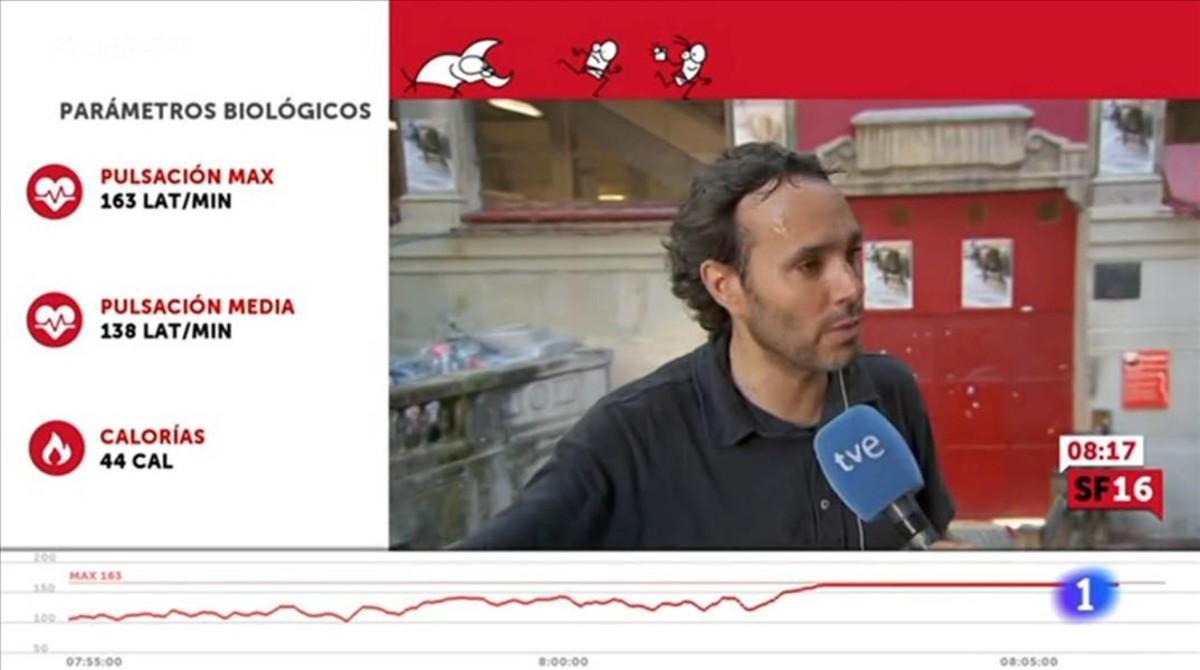 television TVE sanfermines control pulsaciones