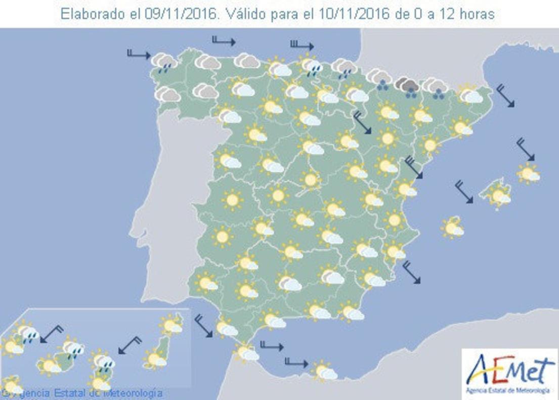 Tiempo en espa a para hoy jueves lluvias en el norte - Temperatura terrassa ahora ...