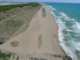 Playa del Remolar, una de las dos de Viladecans reconocida como `Playa Vírgen¿.