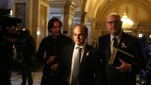 Turull, en el Parlament, el pasado 30 de enero.