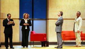 Una imagen de la versión de 'El método Grönholm' en Madrid que ofrece Teatroteca.