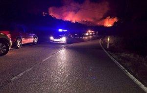 Imagen delincendio forestal del término municipal del Berrueco, Madrid.
