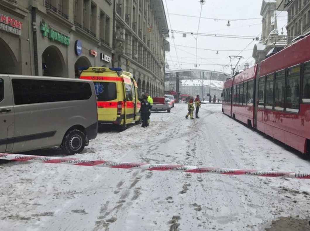 Acceso acordonado a la plaza de la estación central de Berna, el 2 de marzo.