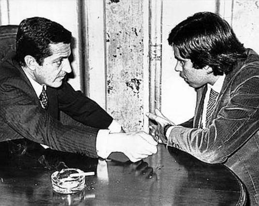 Adolfo Suárez i Felipe González.