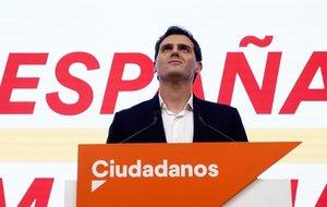 Albert Rivera, en su comparecencia para valorar los resultados de las elecciones del 10-N.