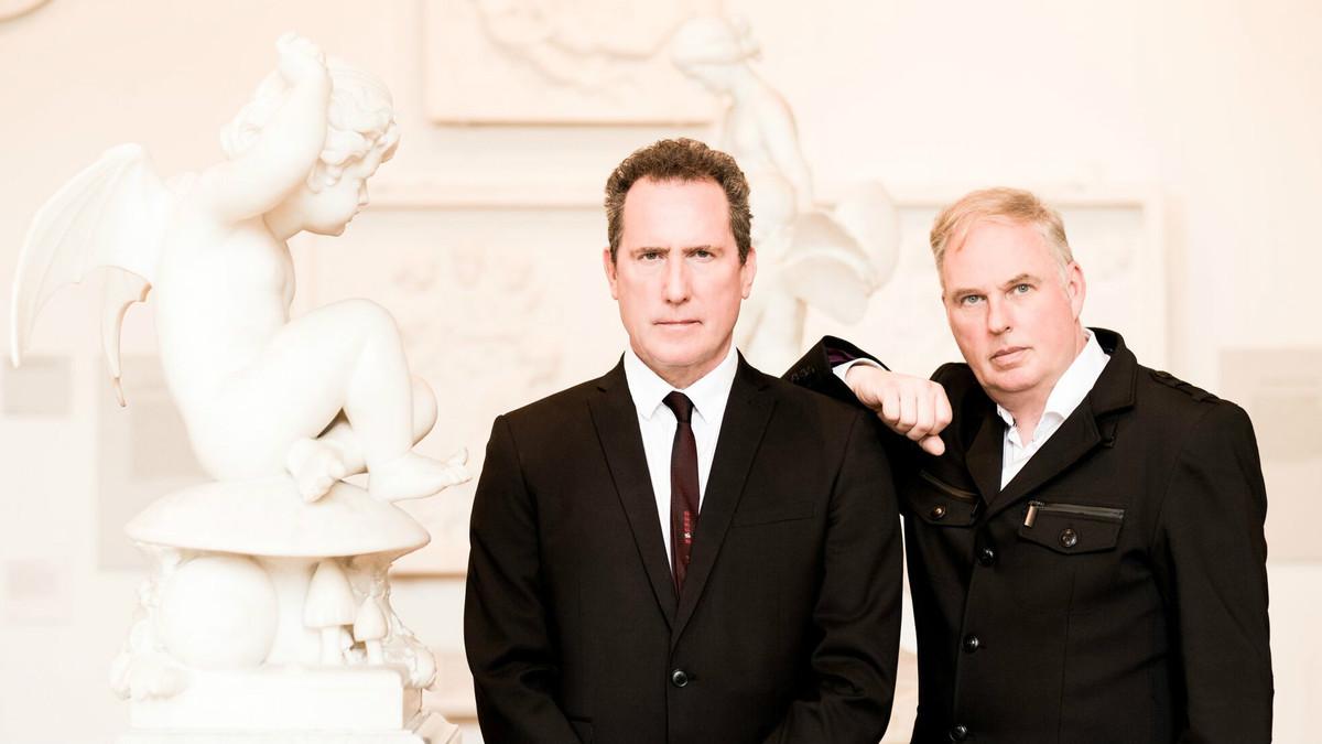 Andy McCluskey (izquierda) y Paul Humphreys, en una imagen promocional de Orchestral Manoeuvres in the Dark