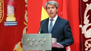 Ángel Garrido en la toma de posesión como Presidente