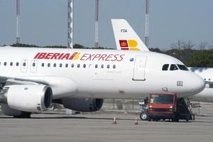 Avió d'Iberia Express, a Barajas.