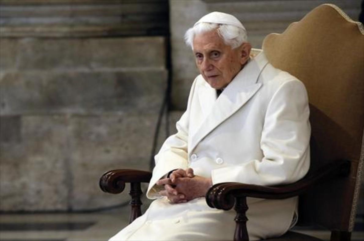 El papa emérito, Benedicto XVI, en diciembre del 2015