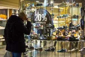 Campaña comercial por el Black Friday en un establecimiento de Barcelona.