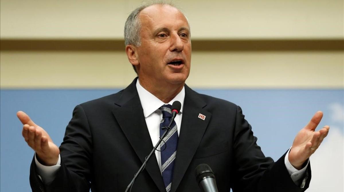 El candidato socialdemocrata en las elecciones presidenciales de Turquía, Muharrem Ince.
