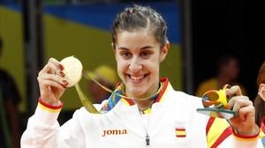 Carolina Marín se proclamó campeona olímpica de bádminton en los Juegos de Río 2016.