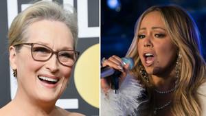 """Així reacciona Meryl Streep quan Mariah Carey li """"roba"""" el seient a la gala dels Globus d'Or"""