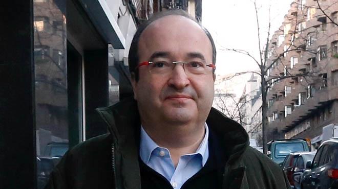 Declaraciones del primer secretario del PSC, Miquel Iceta, a su llegada del comité federal del PSOE.