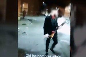 Uno de los detenidos por la Policía Nacional en Valladolid.