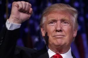 Donald Trump en la noche electoral.