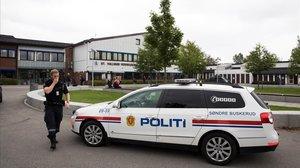 Un coche de la policía noruega.