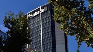 Edificio del Banc Sabadell en Barcelona.