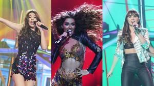 Eleni Foureira coincide con Ana Guerra y Aitana y cantan juntas 'Lo malo'