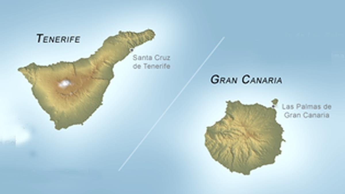 Un estudio sugiere la existencia de una gran falla entre Tenerife y Gran Canaria