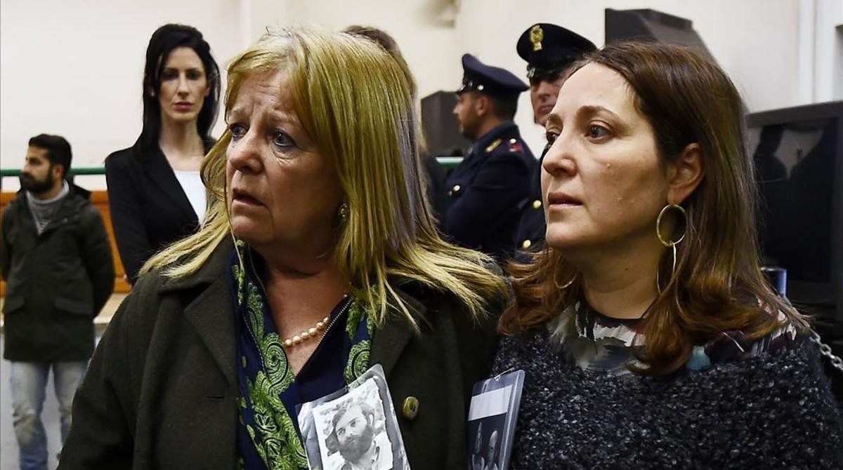 Familiares de las víctimas del Plan Cóndor tras escuchar las sentencias.
