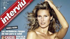 Anne Igartiburu, en la portada que protagonizó en el 2002.