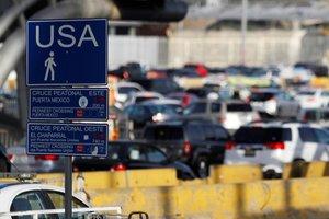 El paso fronterizo entre San Ysidro, Estados Unidos y Tijuana, México.
