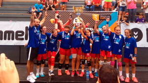 Les alevines de l'Handbol Gavà guanyen un torneig internacional de 350 equips
