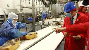 Imagen de archivo de la planta de productos cárnicos que el Grupo Jorge tiene en Zuera (Zaragoza).