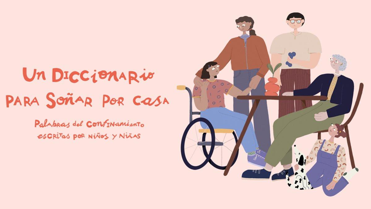 Ilustración de la portada del diccionario realizado por los niños y niñas que ayuda CaixaProinfancia