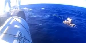 Imagen de la trampa para peces en la que el joven indonesio fue rescatado tras 48 días a la deriva.