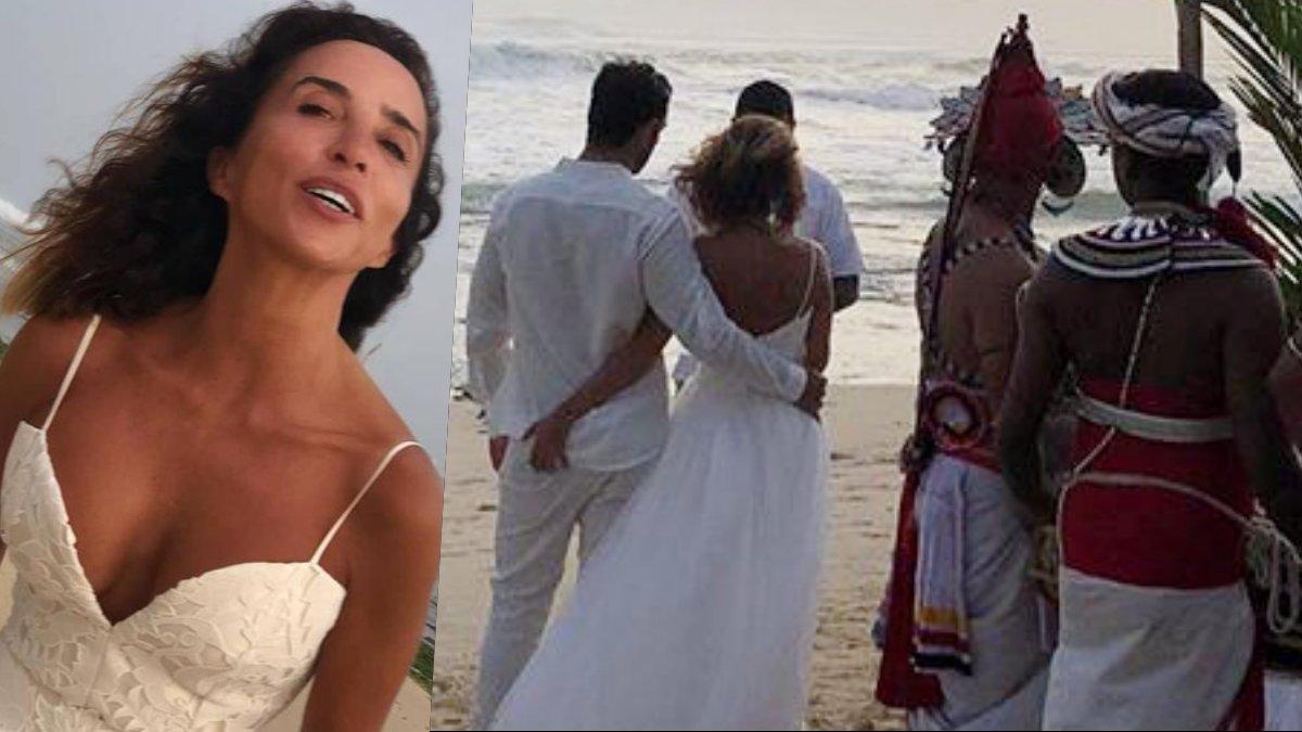 Imágenes de la boda de María Patiño en Sri Lanka.