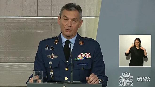 Intervención del jefe del Estado Mayor de Defensa, Miguel Ángel Villarroya