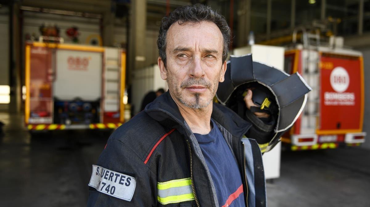SergiFuertes, miembro Bombers de Barcelona y corredor.