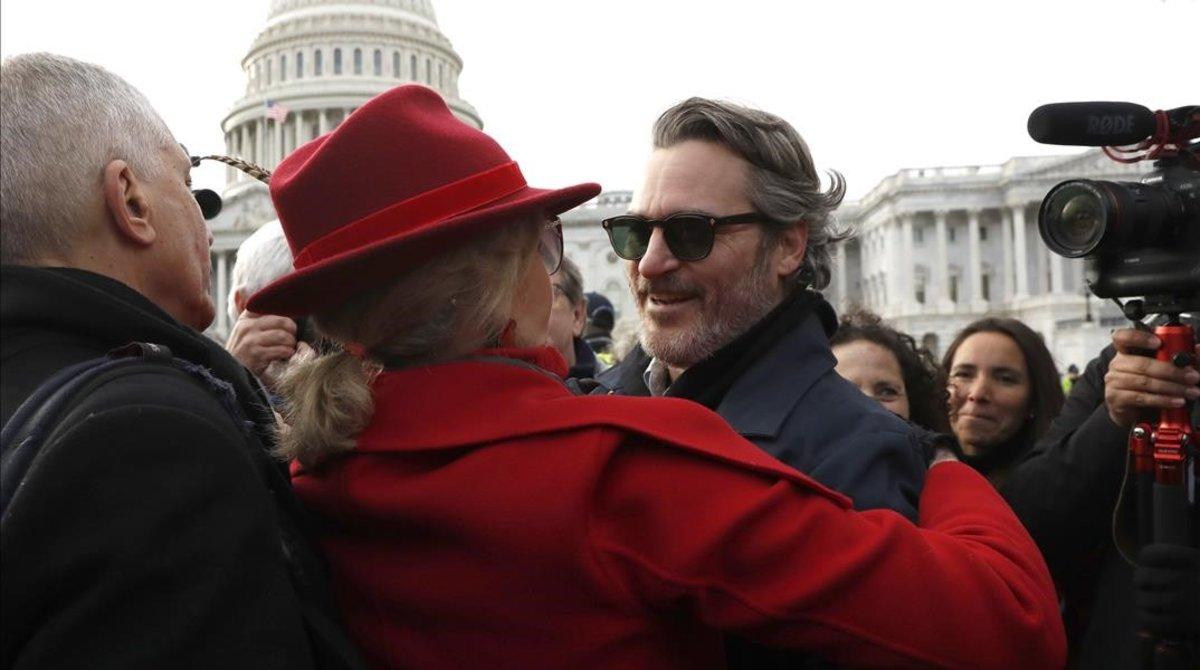 Joaquin Phoenix, detenido en una protesta climática organizada por Jane Fonda.
