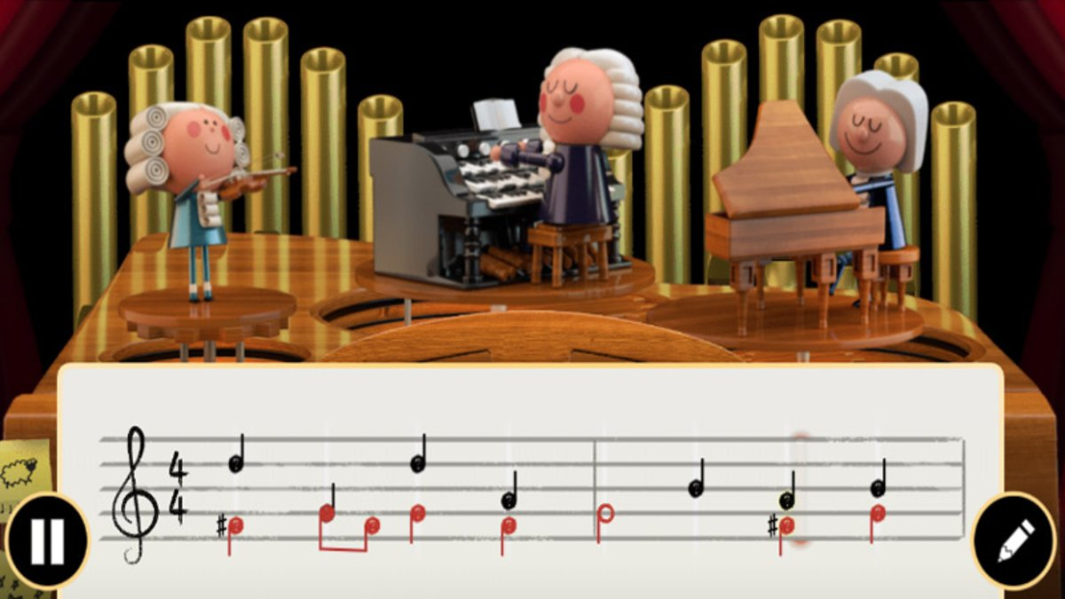 Johann Sebastian Bach protagoniza el primer doodle con IA de Google