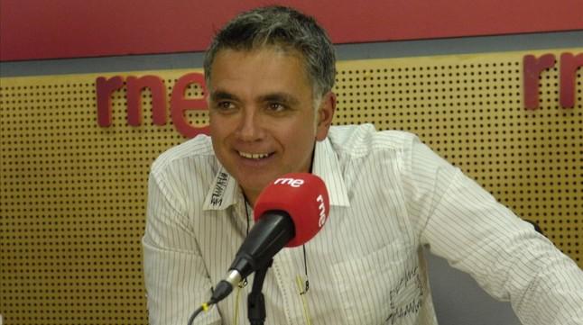 Juan Ramón Lucas, en una foto de su etapa en RNE.