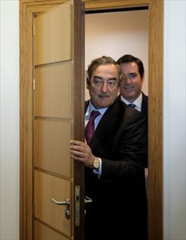 Juan Rosell (CEOE) y Antonio Garamendi (Cepyme).