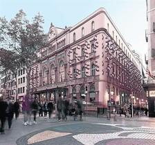 Imagen virtual del proyecto de Frederic Amat para la fachada del Liceu (la principal de La Rambla y la lateral de Sant Pau).