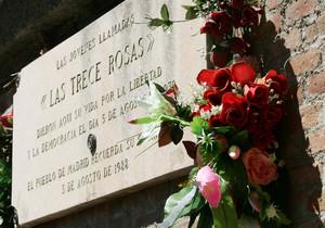 Acto de Homenaje a las 'Trece rosas' en Madrid, en 2006.
