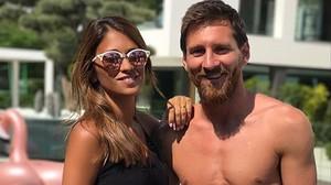 Antonela y Leo Messi.
